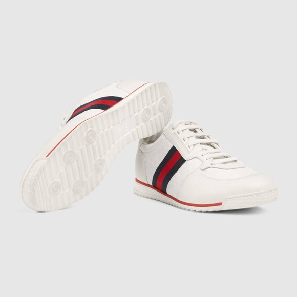 b901880bf Gucci Shoes | Microssima Leather Lowtop Sneakers | Poshmark